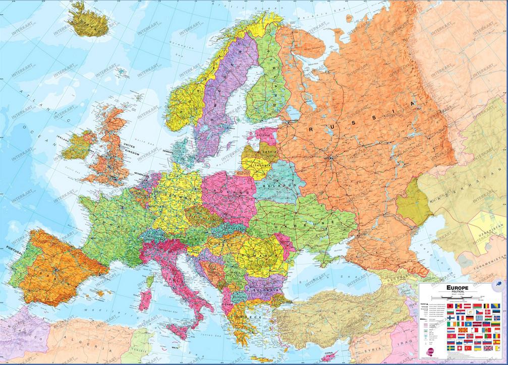 Europakarte Globedrifter